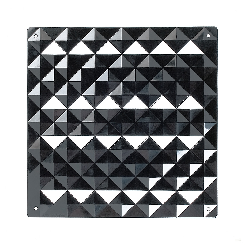 VedoNonVedo Piramide decorative element for furnishing and dividing rooms - black 1