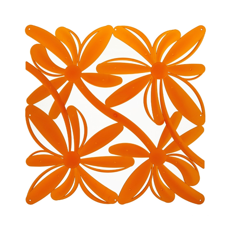 VedoNonVedo Positano decorative element for furnishing and dividing rooms - transparent orange 1
