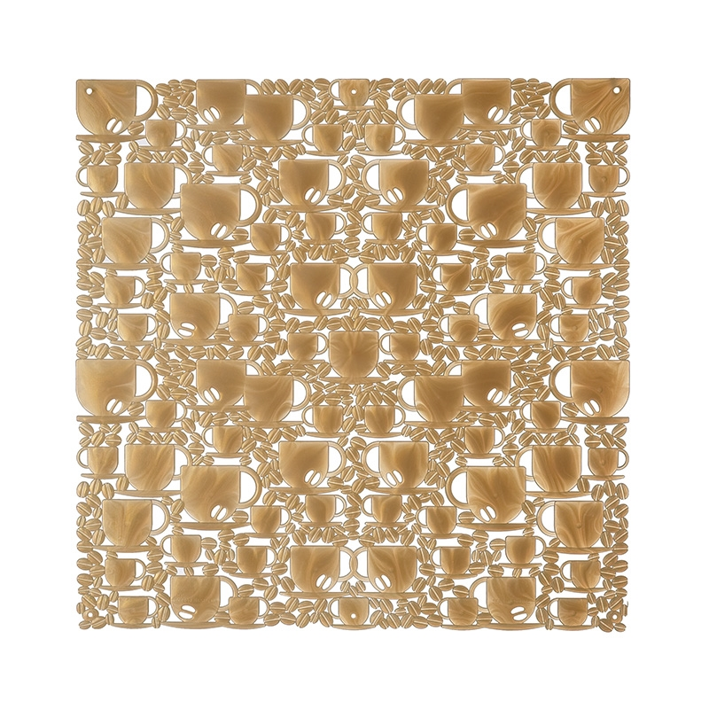 VedoNonVedo O'Caffè decorative element for furnishing and dividing rooms - transparent gold 1