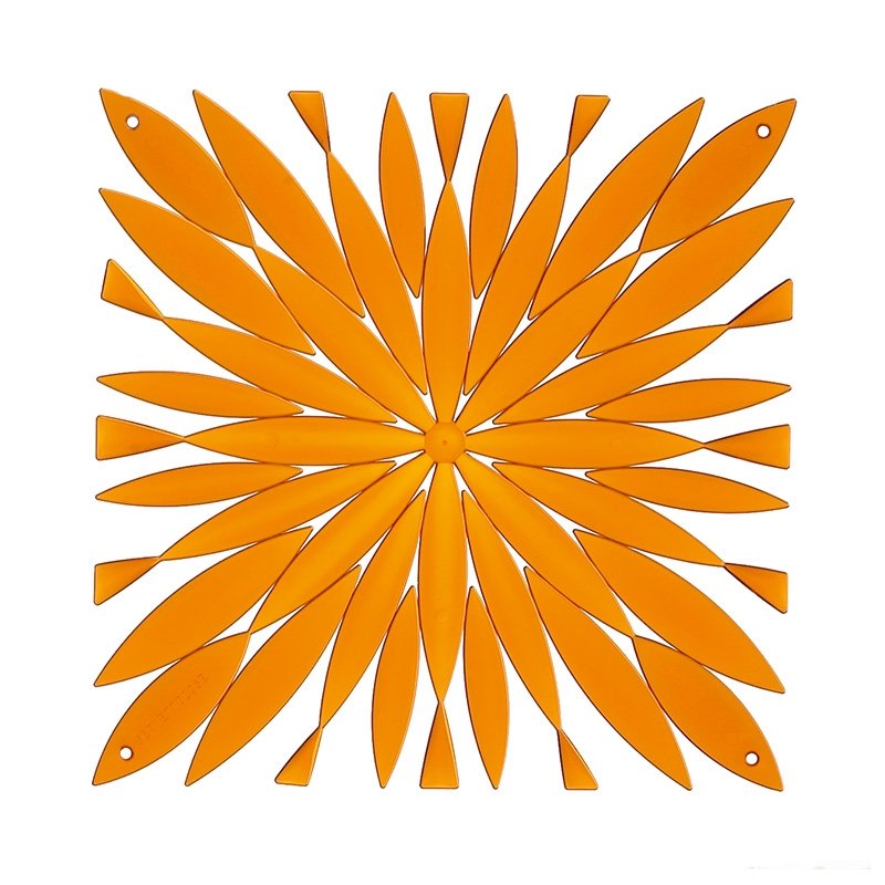 VedoNonVedo Daisy decorative element for furnishing and dividing rooms - transparent orange 1