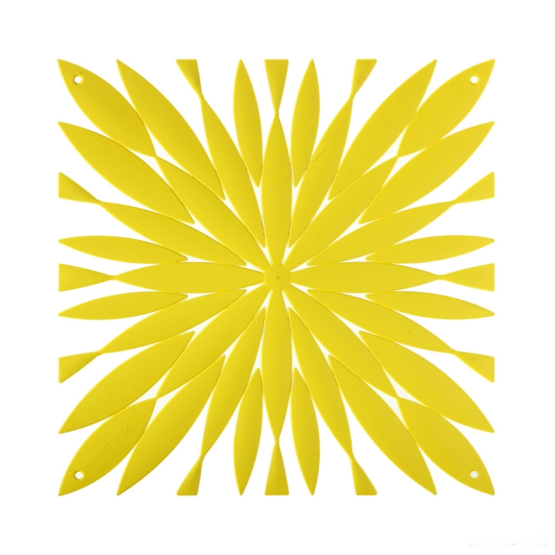 VedoNonVedo Daisy decorative element for furnishing and dividing rooms - yellow 1