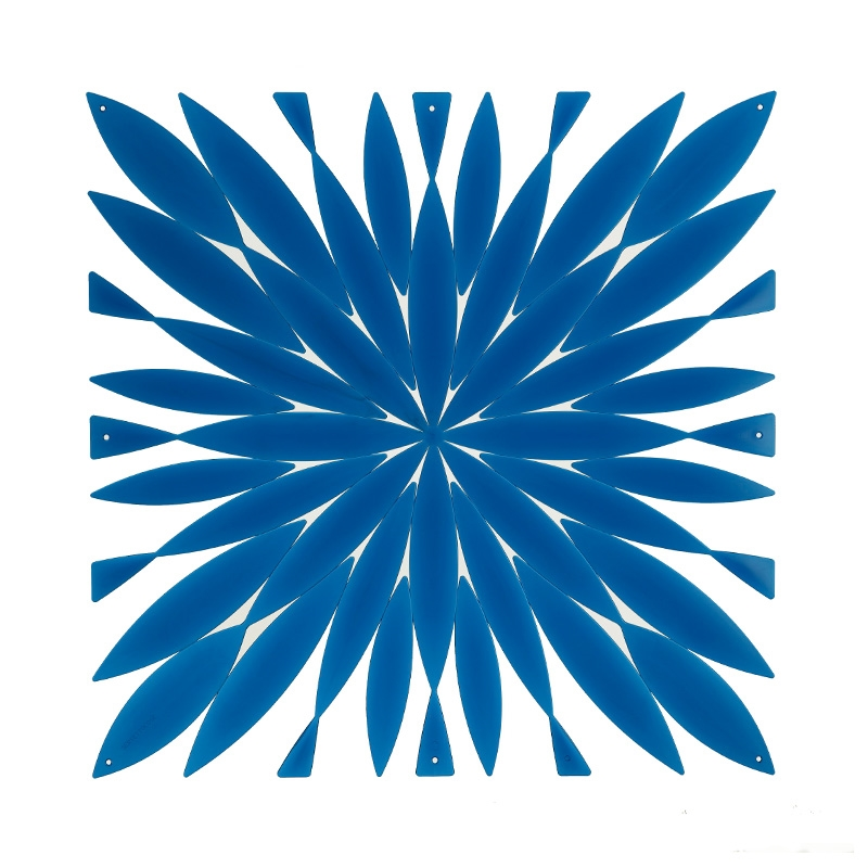 VedoNonVedo Daisy big decorative element for furnishing and dividing rooms - transparent blue 1