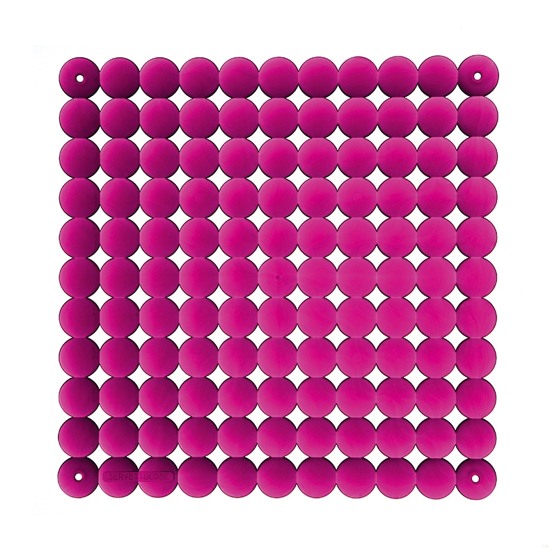 VedoNonVedo Timesquare decorative element for furnishing and dividing rooms - transparent fuchsia 1