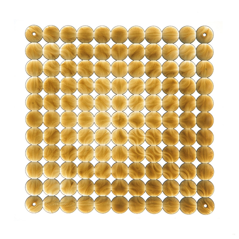 VedoNonVedo Timesquare decorative element for furnishing and dividing rooms - transparent gold 1