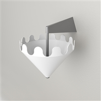 Fiocco gloss white - wall bracket matt grey 1