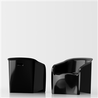 Lady black glossy lacquer 1