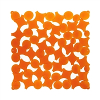 VedoNonVedo Party decorative element for furnishing and dividing rooms - transparent orange 1
