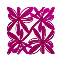 VedoNonVedo Positano decorative element for furnishing and dividing rooms - transparent fuchsia 1