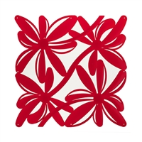 VedoNonVedo Positano decorative element for furnishing and dividing rooms - transparent red 1