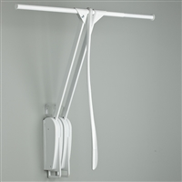 Otto Closet Pro Wall-mounted pull down rail - white-white 1