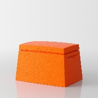 Big Box Multi-purpose trunk by Servetto - orange 1