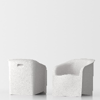 Lady design armchair - white 1