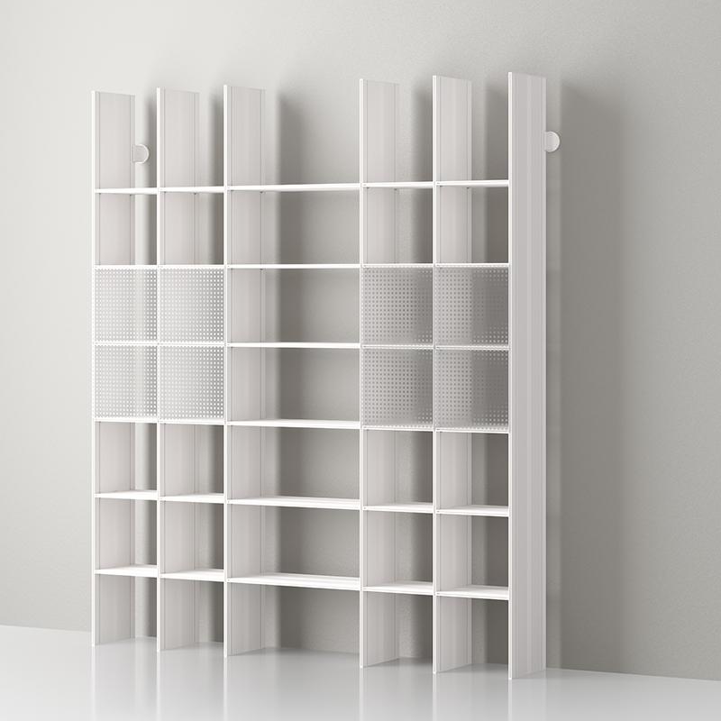 Librerie Modulari Componibili.Mas 35 Libreria Modulare In Alluminio Di Servetto Alluminio Opale Bianco Mas3504ot