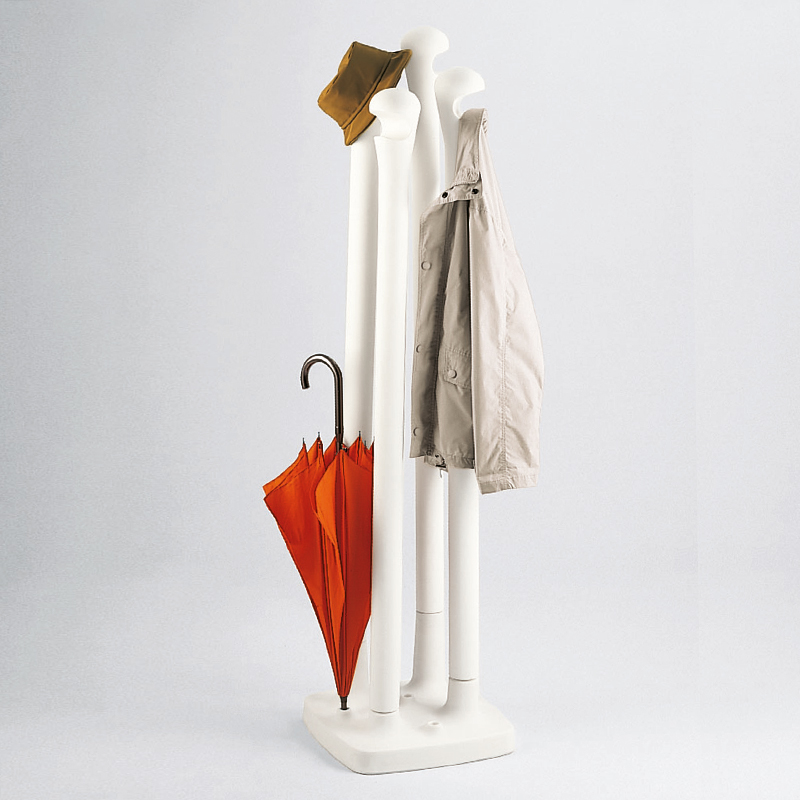Kalimera free-standing coat stand - white 2