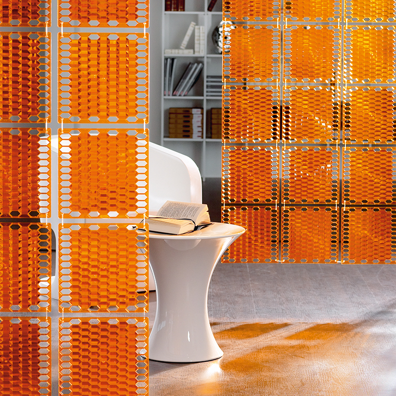 VedoNonVedo Diamante decorative element for furnishing and dividing rooms - transparent orange 4