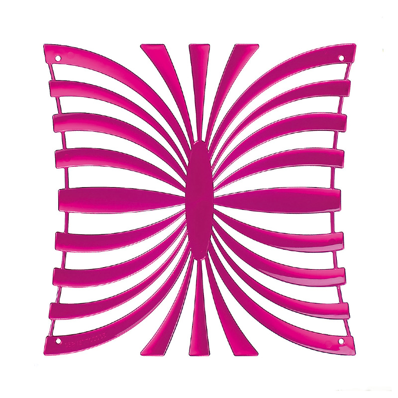 VedoNonVedo Mariposa decorative element for furnishing and dividing rooms - transparent fuchsia 1