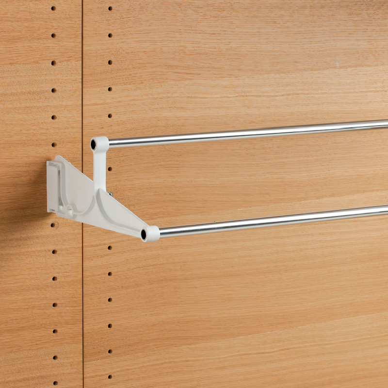 Tac - extendable wall-mounted shoe rack - white-bright aluminium 1