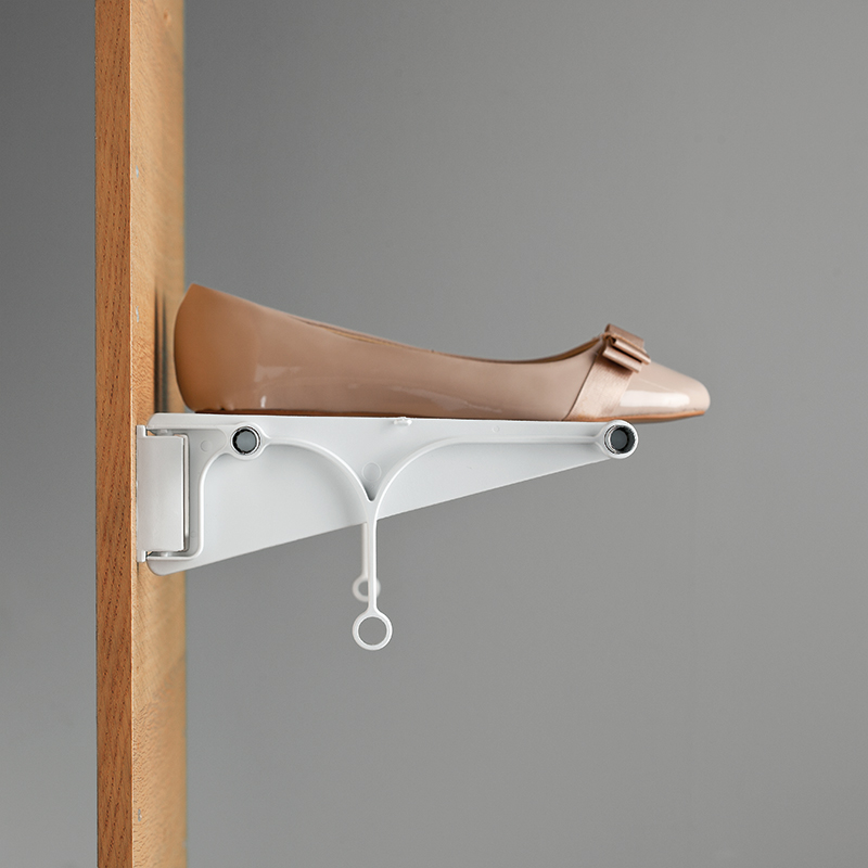 Tac - extendable wall-mounted shoe rack - brown-brown 4