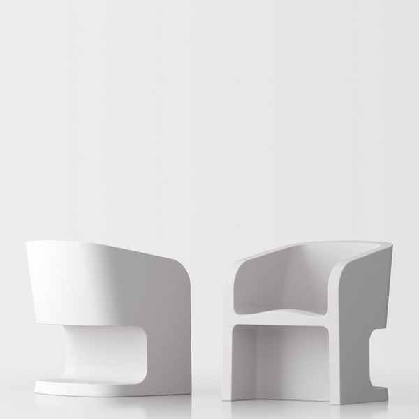 Michelle design armchair - white