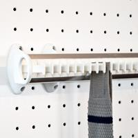 Pull-out tie rack - 32 hooks - white-bright aluminium 2