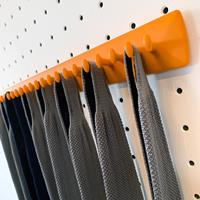 Takataka - fixed tie rack - 25 hooks - orange 2