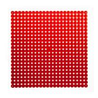 VedoNonVedo Timesquare big decorative element for furnishing and dividing rooms - transparent red 1