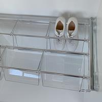 Plus - Porte-chaussures 6V - transparent - aluminium brillant - polycarbonate transparent 3