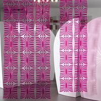 VedoNonVedo Mariposa decorative element for furnishing and dividing rooms - transparent fuchsia 2