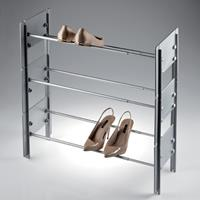 Cip stackable shoe rack beige - black tube 2