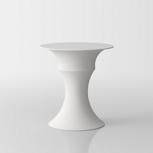 Olimpo  designer coffee table by Servetto - white