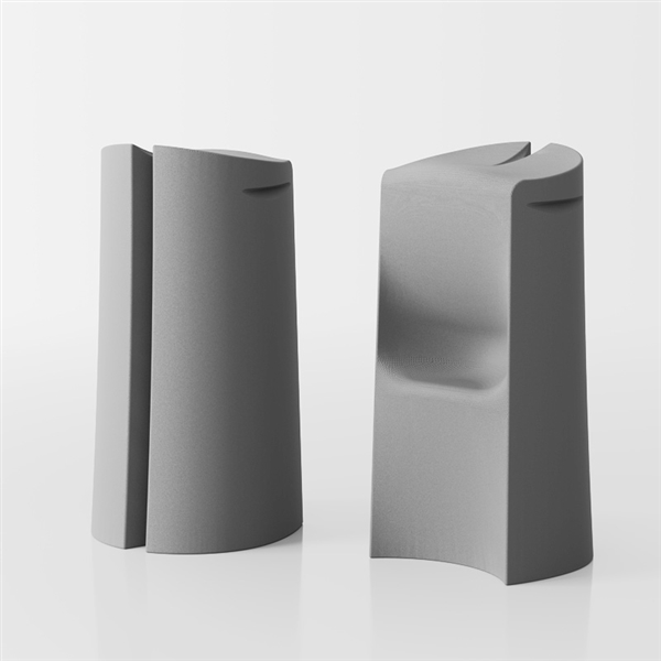Kalispera designer high stool - grey