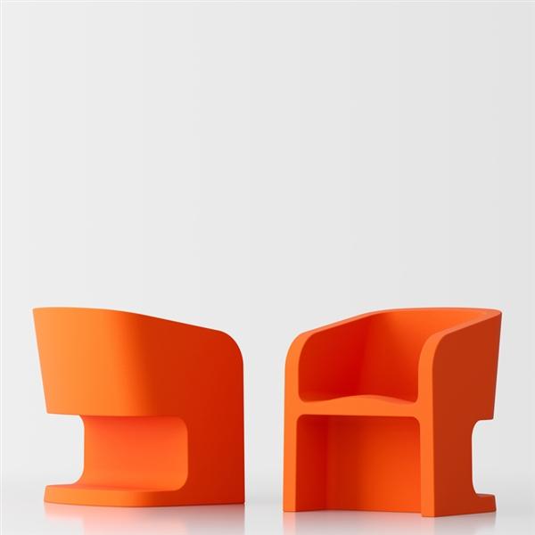 Michelle design armchair - orange