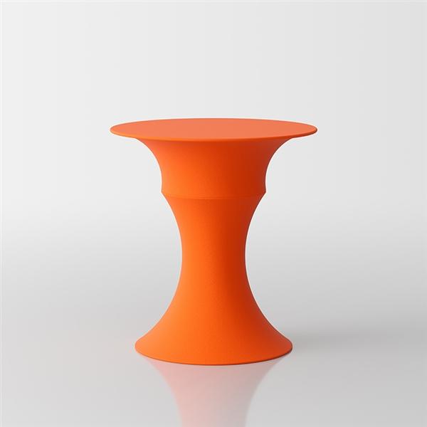 Olimpo  designer coffee table by Servetto - orange