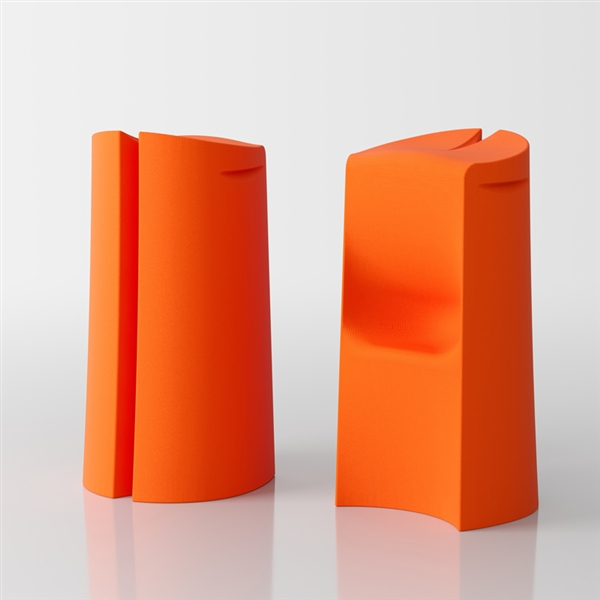 Kalispera hoher Design Hocker  - orange