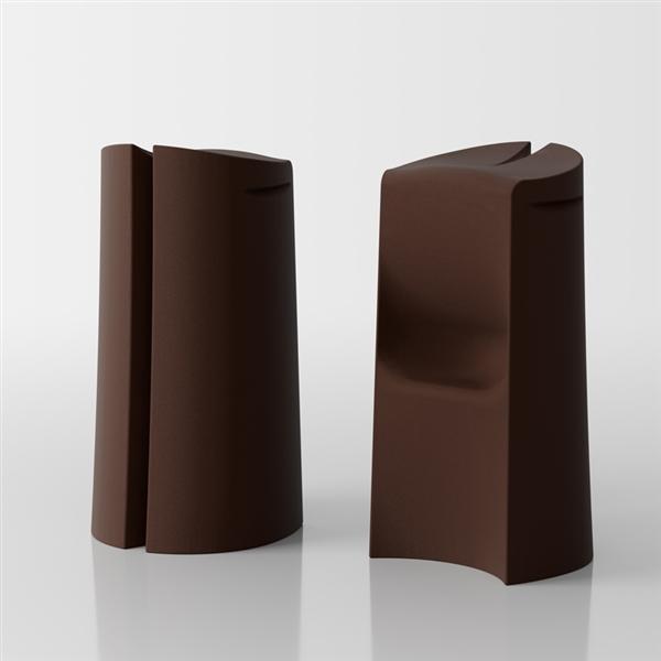 Kalispera designer high stool - brown