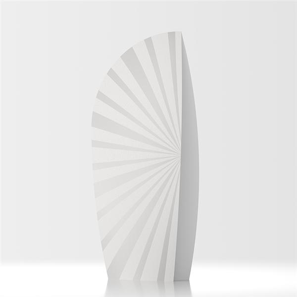 Amerigo designer room divider - white