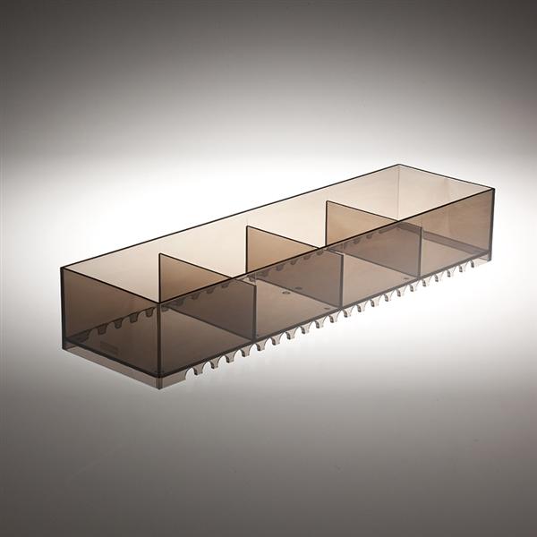 Jolly modern-design storage compartment - brown fumè