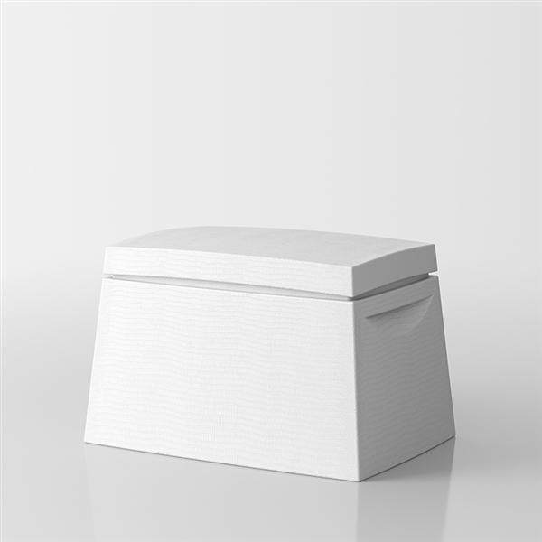 Big Box Multi-purpose trunk by Servetto - white