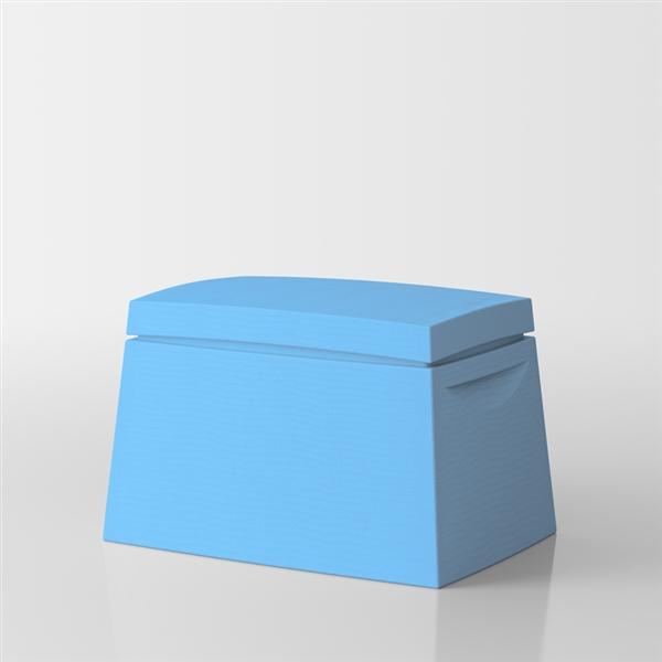 Big box Baule multiuso di Servetto - azzurro
