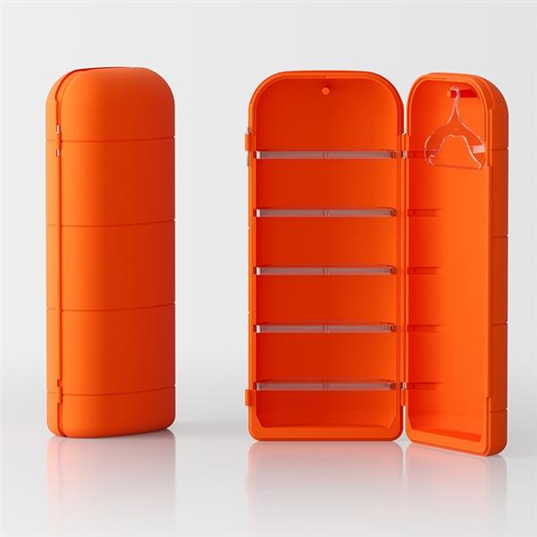 Todo mehrzweck Schrankkoffer von Servetto - orange
