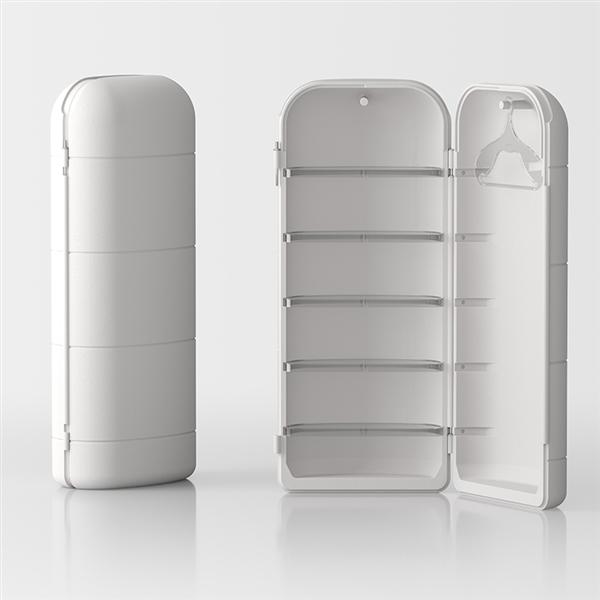 Todo coffre-armoire by Servetto - blanc