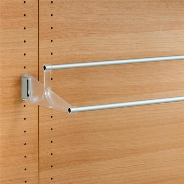 Tac - Schuhhalter ausziehbar - transparent-aluminium satiniert