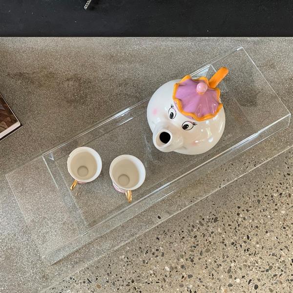Carlotta Modern and designer tray transparent