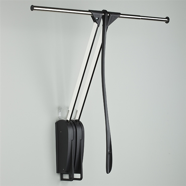 Otto Closet Pro - Kleiderlift für die Wand - schwarz-verchromt