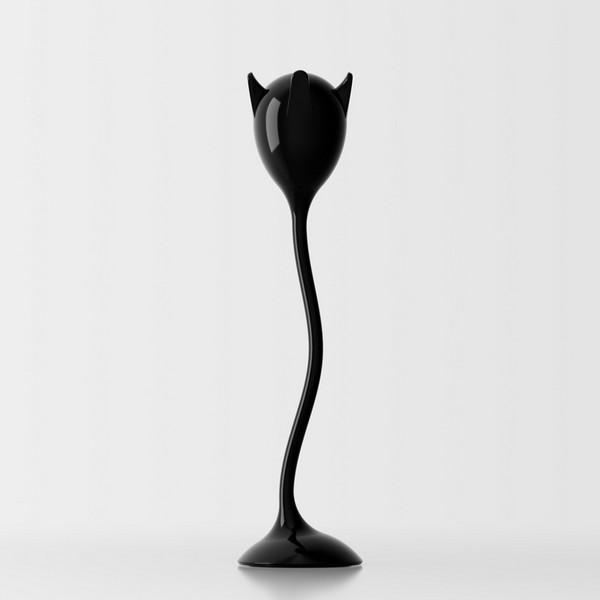 Tulipan laccato lucido nero