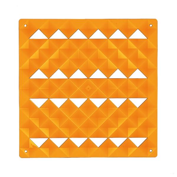 VedoNonVedo Piramide elemento decorativo per arredare e dividere gli spazi - arancione trasparente
