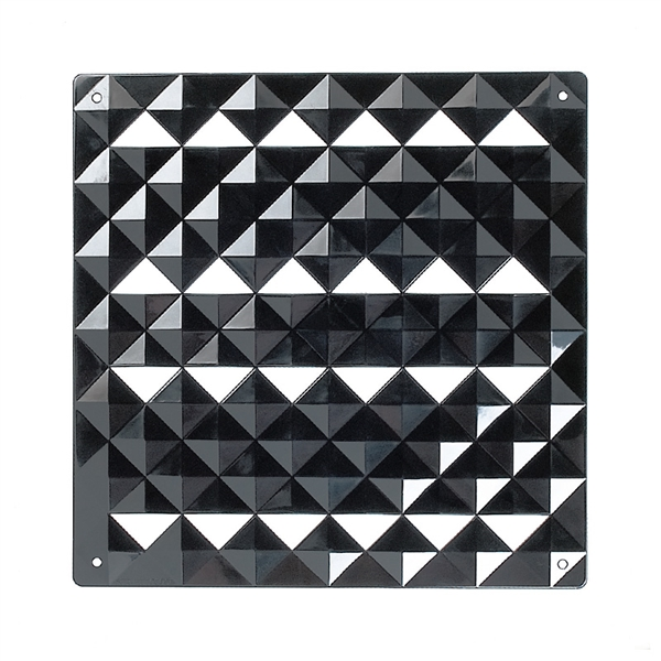 VedoNonVedo Piramide decorative element for furnishing and dividing rooms - black