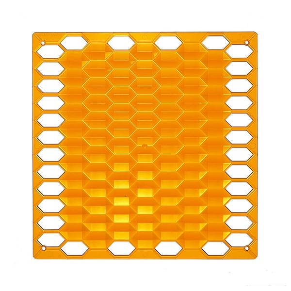 VedoNonVedo Diamante dekoratives Element zur Einrichtung und Teilung von Räumen -  orange transparen