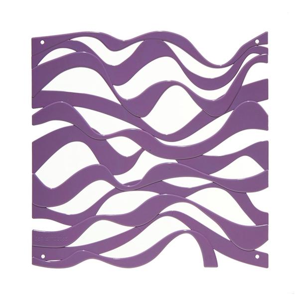 VedoNonVedo Onda dekoratives Element zur Einrichtung und Teilung von Räumen -  lila
