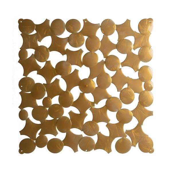 VedoNonVedo Party - elemento decorativo per arredare e dividere gli spazi - oro trasparente